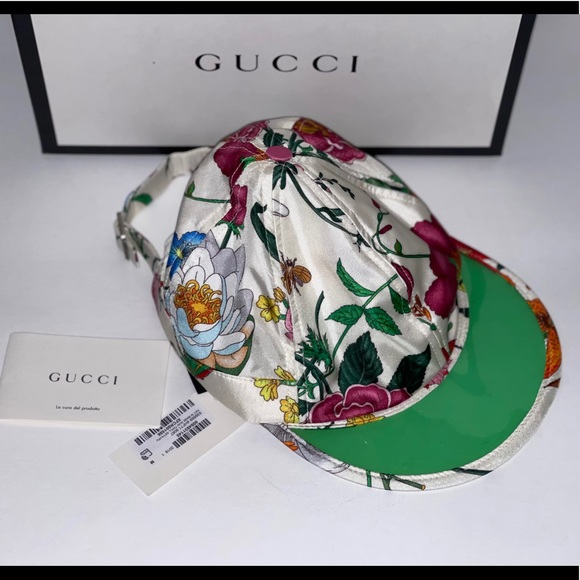 Authentic Gucci bloom blossom floral flower hat